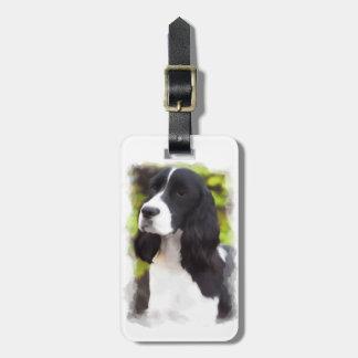 Étiquette À Bagage Étiquette de bagage de chiot de chien d'épagneul