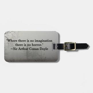 Étiquette À Bagage Étiquette de bagage de citation d'horreur
