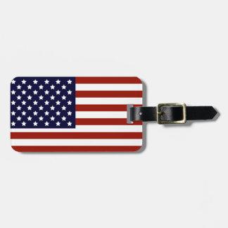 Étiquette À Bagage Étiquette de bagage de drapeau américain