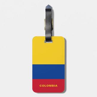 Étiquette À Bagage Étiquette de bagage de drapeau de la Colombie