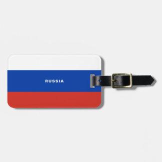 Étiquette À Bagage Étiquette de bagage de drapeau de la Russie
