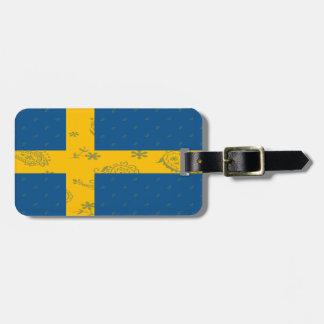 Étiquette À Bagage Étiquette de bagage de drapeau de la Suède