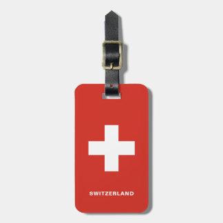 Étiquette À Bagage Étiquette de bagage de drapeau de la Suisse