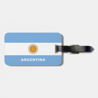 Étiquette À Bagage Étiquette de bagage de drapeau de l'Argentine