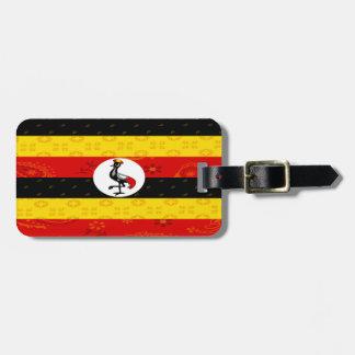 Étiquette À Bagage Étiquette de bagage de drapeau de l'Ouganda