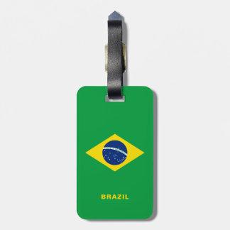 Étiquette À Bagage Étiquette de bagage de drapeau du Brésil