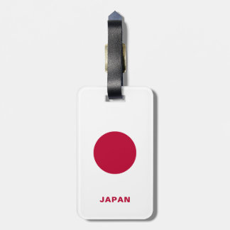 Étiquette À Bagage Étiquette de bagage de drapeau du Japon