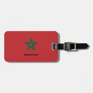 Étiquette À Bagage Étiquette de bagage de drapeau du Maroc