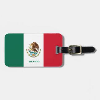 Étiquette À Bagage Étiquette de bagage de drapeau du Mexique