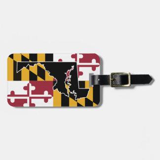 Étiquette À Bagage Étiquette de bagage de drapeau/état du Maryland