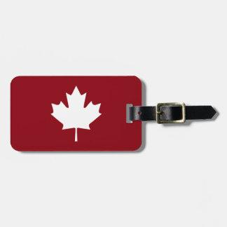 Étiquette À Bagage Étiquette de bagage de feuille d'érable du Canada
