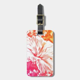 Étiquette À Bagage Étiquette de bagage de fleur de ketmie