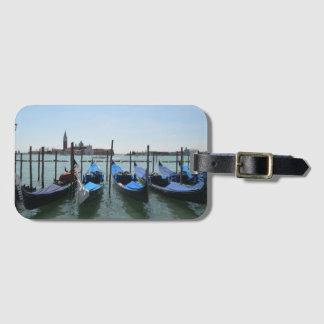 Étiquette À Bagage Étiquette de bagage de gondoles de Venise