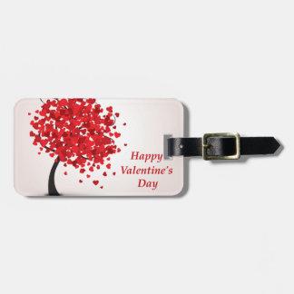 Étiquette À Bagage Étiquette de bagage de heureuse Sainte-Valentin