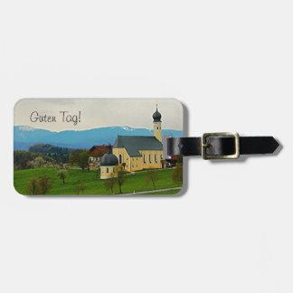 Étiquette À Bagage Étiquette de bagage de l'Allemagne - campagne