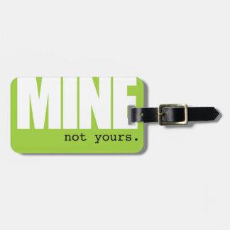 Étiquette À Bagage Étiquette de bagage de mine