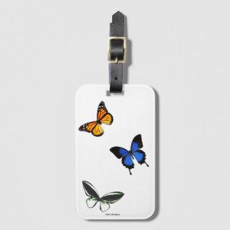Étiquette À Bagage Étiquette de bagage de motif de papillon