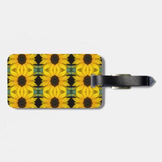 Étiquette À Bagage Étiquette de bagage de motif de photo de tournesol
