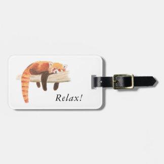 Étiquette À Bagage Étiquette de bagage de panda rouge
