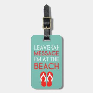 Étiquette À Bagage Étiquette de bagage de plage