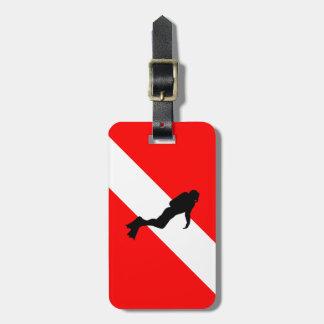 Étiquette À Bagage Étiquette de bagage de plongeur autonome