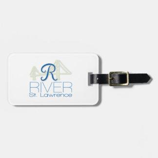 Étiquette À Bagage Étiquette de bagage de Saint-Laurent de rivière de