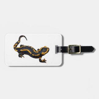 Étiquette À Bagage Étiquette de bagage de salamandre de feu