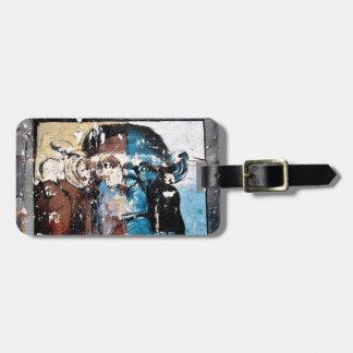 Étiquette À Bagage Étiquette de bagage de singe avec le bracelet en