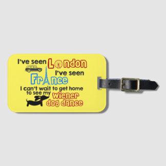 Étiquette À Bagage Étiquette de bagage de voyage de Londres France de