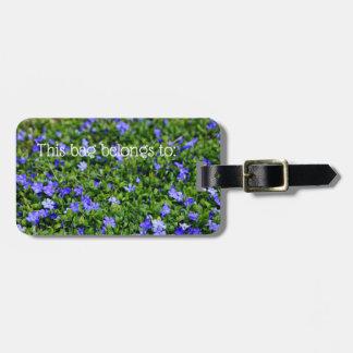 Étiquette À Bagage Étiquette de bagage personnalisée par fleur bleue