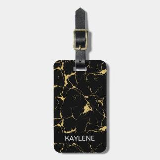 Étiquette À Bagage Étiquette de marbre personnalisée de bagage de