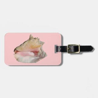 Étiquette À Bagage Étiquette de sac de coquillage de conque