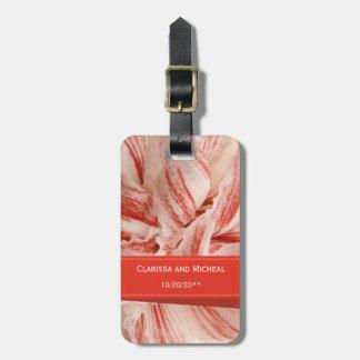Étiquette À Bagage Étiquette de sac de lune de miel de pétales