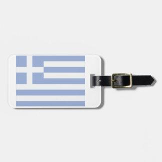 Étiquette À Bagage Étiquette grecque de bagage de drapeau