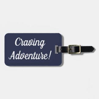 Étiquette À Bagage Étiquette implorante de bagage d'aventure