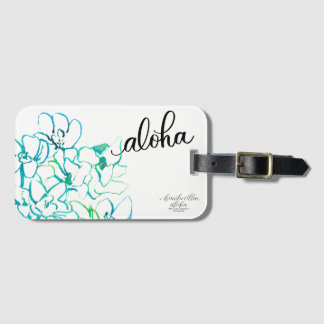 Étiquette À Bagage Étiquette lumineuse de bagage de fleur d'orchidée