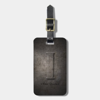 Étiquette À Bagage Étiquette noire en bronze de bagage de voyage de