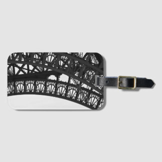 Étiquette À Bagage Étiquette noire et blanche de bagage de détail de