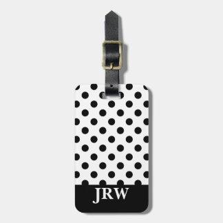 Étiquette À Bagage Étiquette noire et blanche faite sur commande de