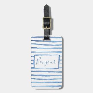 Étiquette À Bagage Étiquette personnalisable peinte de bagage de
