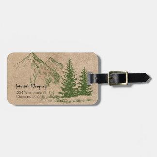 Étiquette À Bagage Étiquette rustique pittoresque de montagne et de