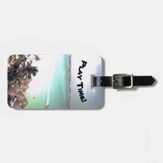 Étiquette À Bagage Étiquette tropicale de bagage