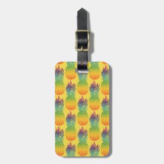 Étiquette À Bagage Étiquette tropicale de bagage de voyage de motif