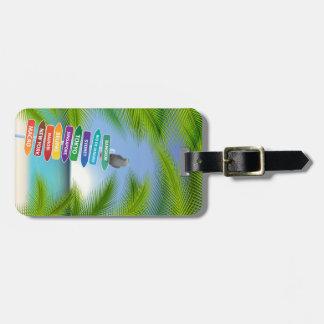Étiquette À Bagage Étiquette tropicale de voyage