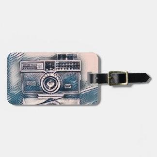 Étiquette À Bagage Étiquette vintage de bagage d'appareil-photo