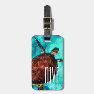 Étiquette À Bagage Étiquettes de bagage de tortue de mer de piqué