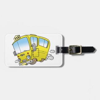 Étiquette À Bagage Étiquettes jaunes de bagage d'autobus de bande