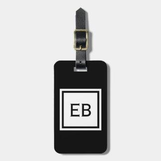 Étiquette À Bagage Étiquettes noires et blanches modernes