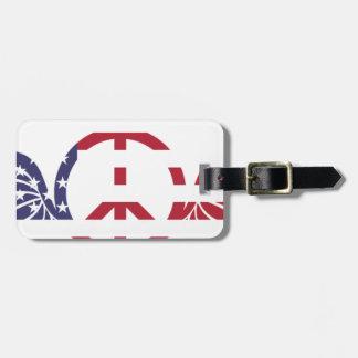 Étiquette À Bagage Étoiles bleues blanches rouges Etats-Unis de