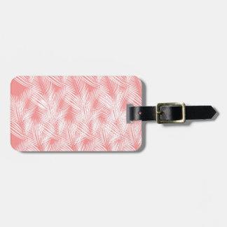 Étiquette À Bagage Exotico de blanc de rose de paumes de conception